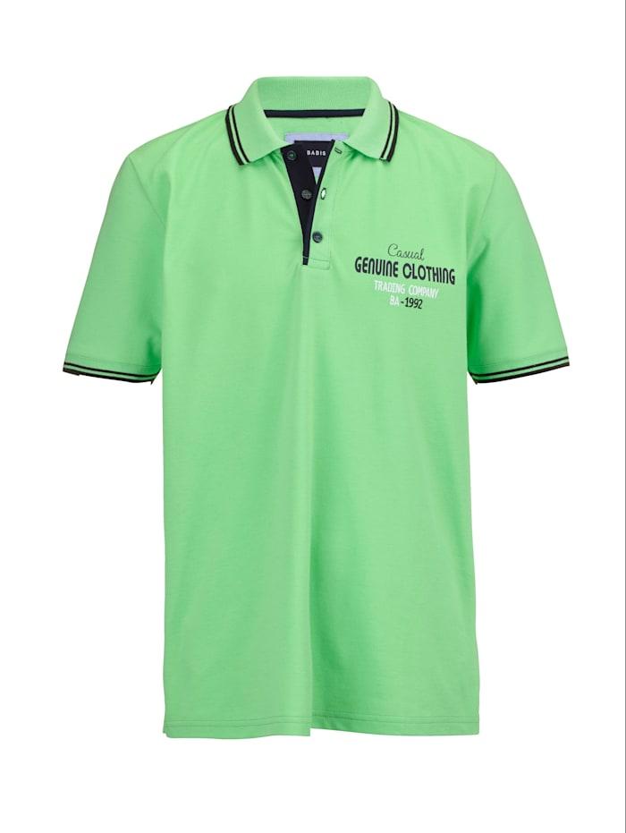 BABISTA Poloshirt met contraststrepen, Neongroen