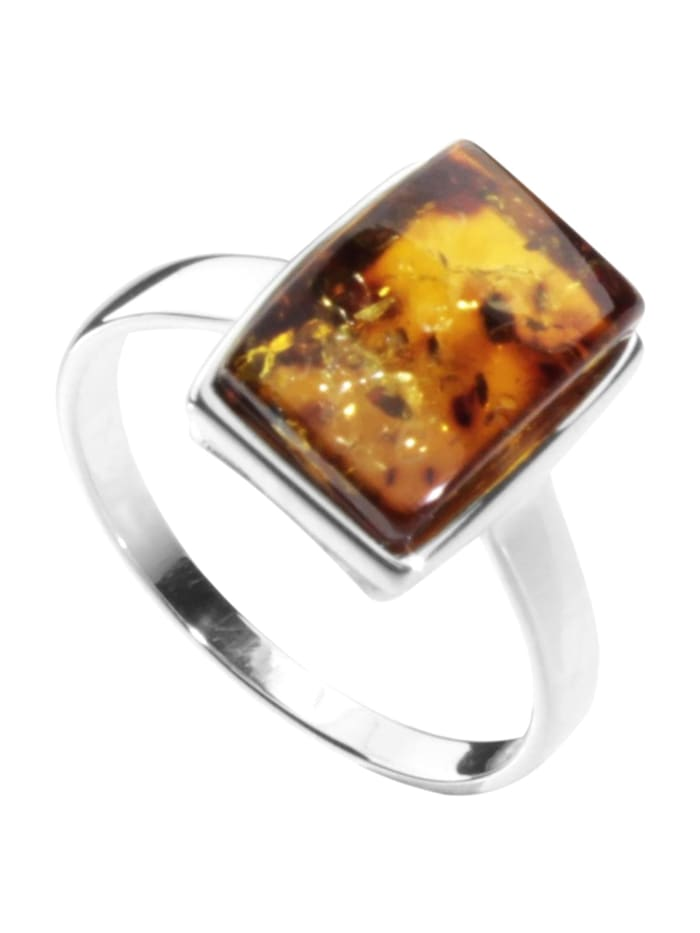 OSTSEE-SCHMUCK Ring - Danica - Silber 925/000 - Bernstein, silber