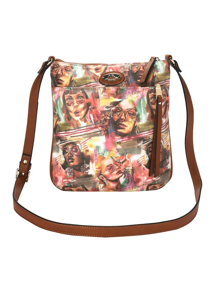 Ara Axelremsväska & liten väska med färgglatt motiv 2 delar, Flerfärgad
