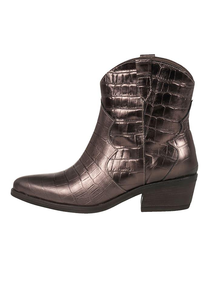 REKEN MAAR Cowboy Boots, Bronzefarben