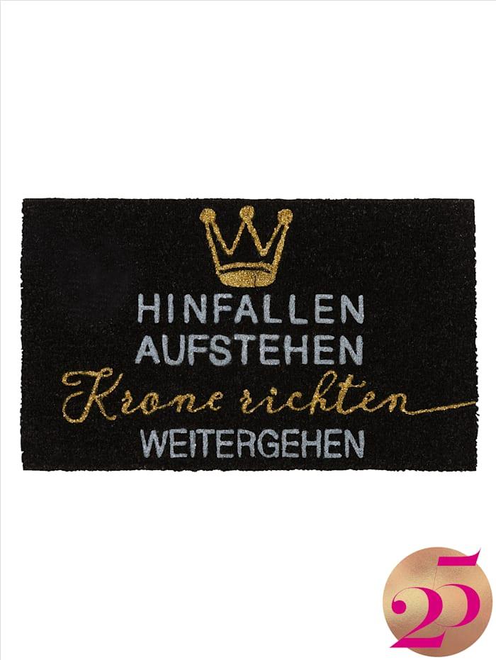 IMPRESSIONEN living Fußmatte, Jubiläumskollektion, Schwarz/Weiß/Goldfarben
