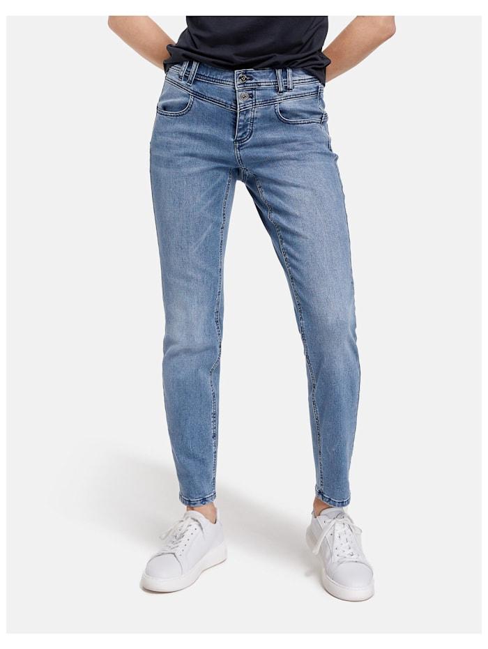 Taifun Jeans Slim Boyfriend TS Organic Cotton, Blue Denim