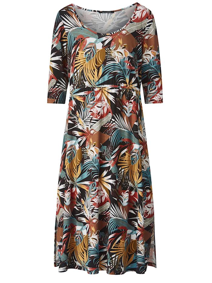 Jersey jurk met elastische deelnaad in de taille