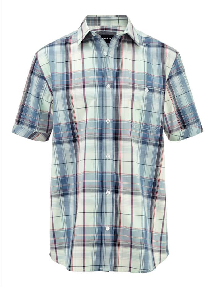 BABISTA Hemd aus reiner Baumwolle, Blau/Grün