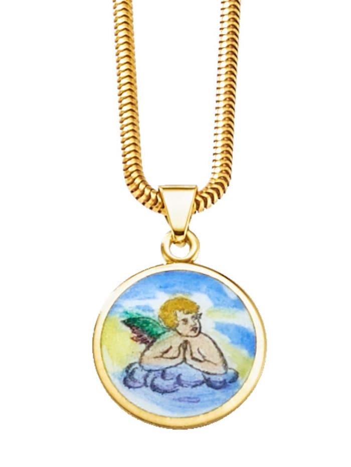 Pendentif 'Ange gardien' en or jaune 585, Coloris or jaune
