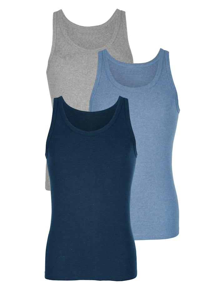 Hemden, Marine/Lichtgrijs/Lichtblauw