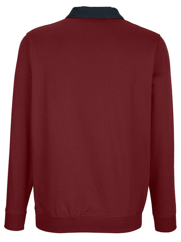 Poloshirt met contrastkleurige details