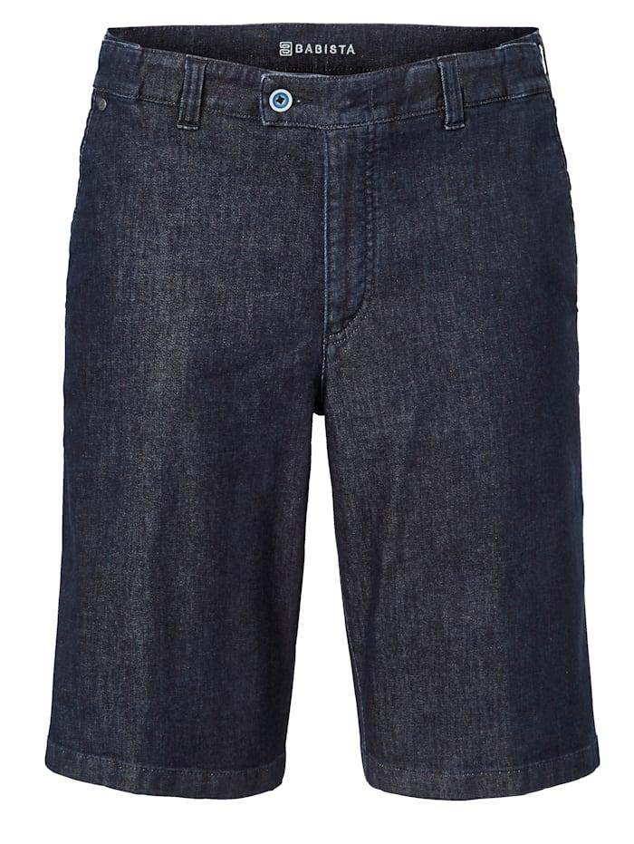 BABISTA Bermuda en jean Largeur supplémentaire de 7 cmpour plus de confort, Bleu foncé