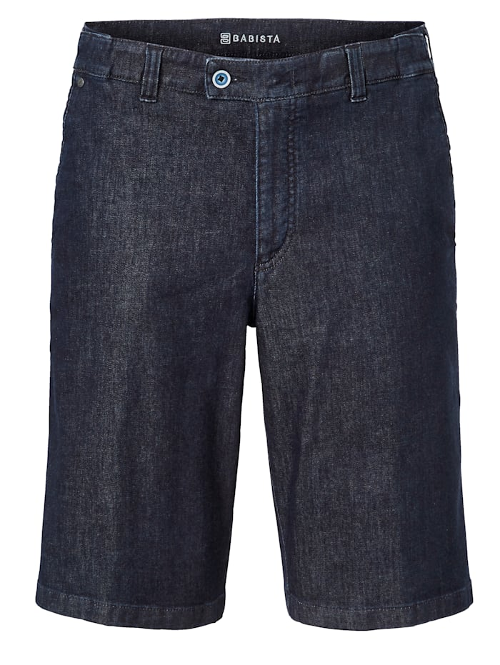 BABISTA Jeansbermuda met 7 cm meer bandwijdte, Donkerblauw