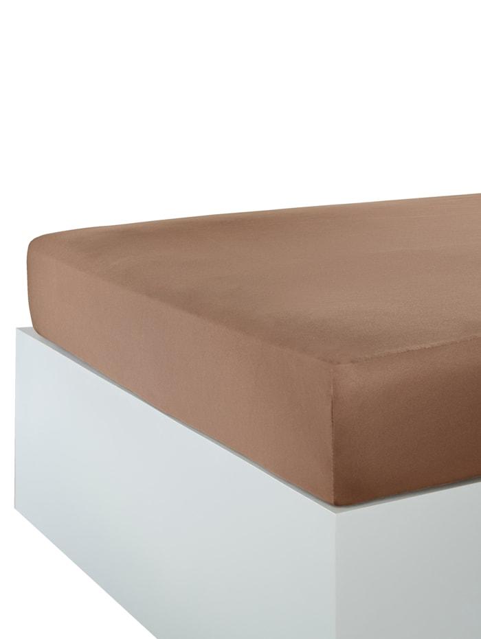 Webschatz Stretchlaken, brun