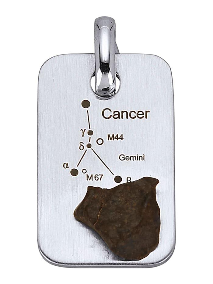 Sternzeichen-Anhänger Krebs, Silberfarben