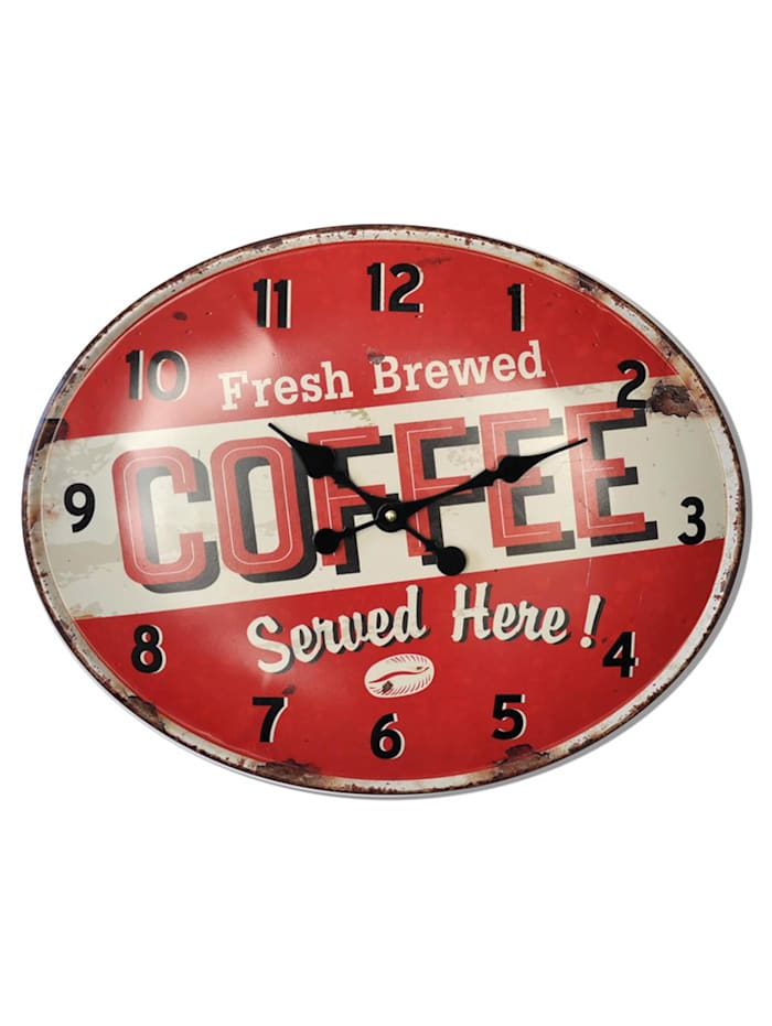 HTI-Line Wanduhr Coffee, Bunt