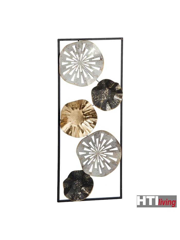 Wanddeko aus Metall im Rahmen