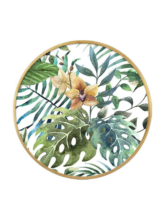 HTI-Line Tablett Orchidee, Bunt
