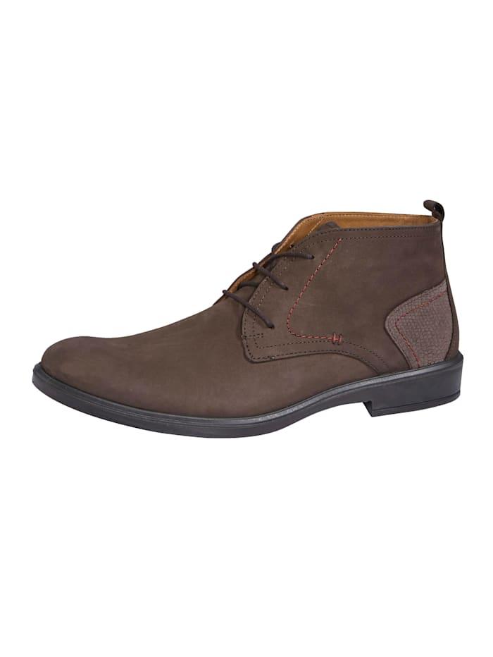 Jomos Šnurovacia obuv s praktickým pútkom, Hnedá