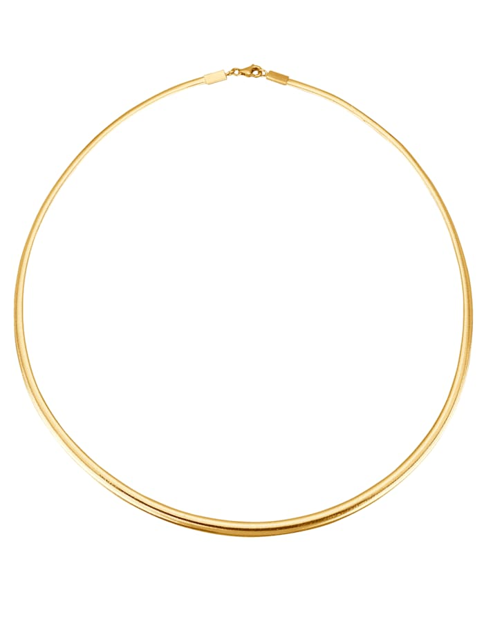 KLiNGEL Omega-Collier in Gold 585, Gelb
