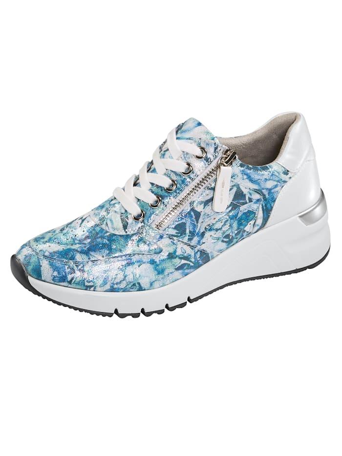 Liva Loop Sneaker mit Ristschnürung und seitlicher Reißverschluss, Blau