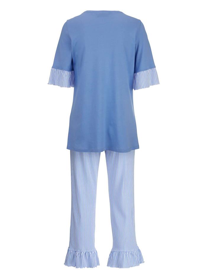 Pyjama met vrouwelijke volants