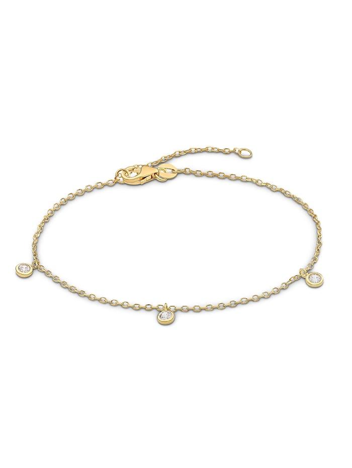 FAVS. FAVS Damen-Armband 375er Gelbgold 3 Zirkonia, gelbgold