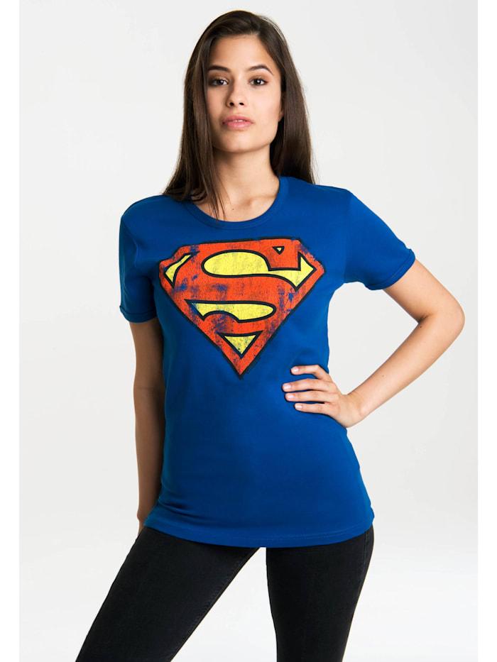 Logoshirt T-Shirt Superman-Logo mit lizenzierten Originaldesign, blau