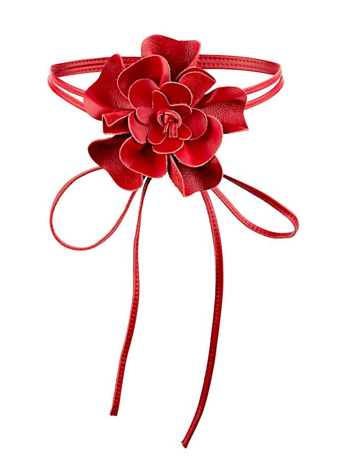 MONA Bindegürtel mit Blüte, rot