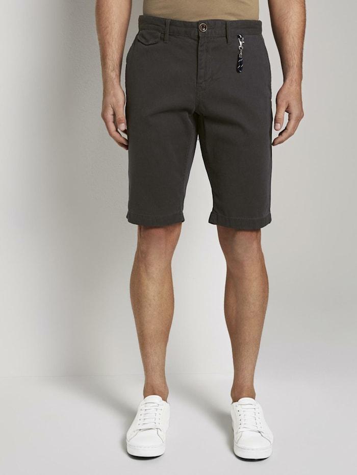 Tom Tailor Chino Shorts mit Schlüsselanhänger, blue dotted design