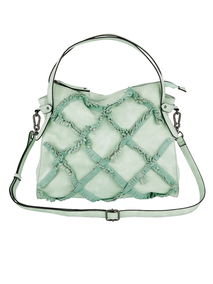 SURI FREY Handbag with fringes, Mint - exclusive by us