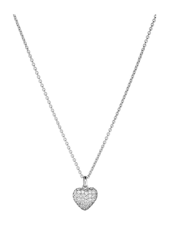 FAVS Damen-Kette 925er Silber 51 Zirkonia