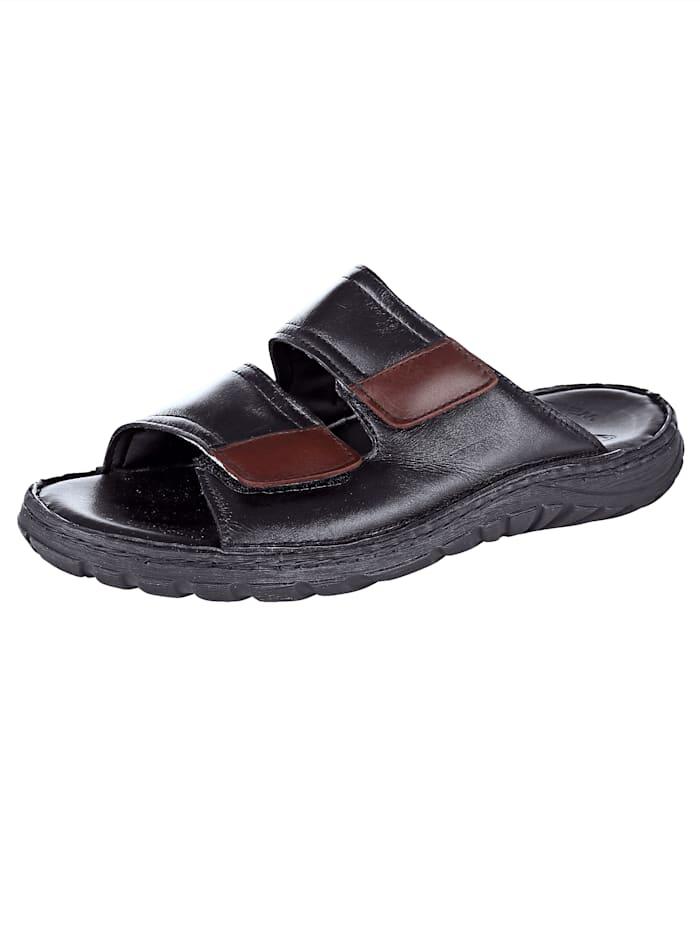 Roger Kent Nazouvací obuv, Černá/Bordó