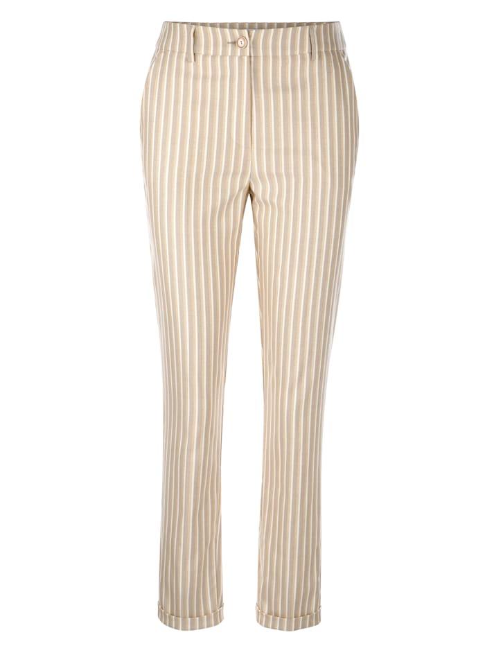 Pantalon à rayures tissées de qualité