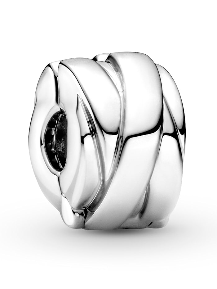 Pandora Clip-Charm -polierte Bänder- 799502C00, Silberfarben