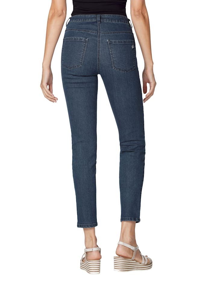 Jeans mit platziertem Druck