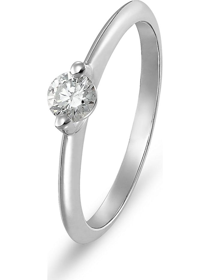 CHRIST C-Collection CHRIST Damen-Damenring 585er Weißgold 1 Diamant, Weißgold