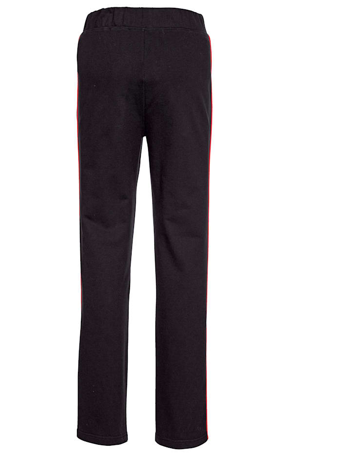 Loungewear Trousers with chic contrasting piping