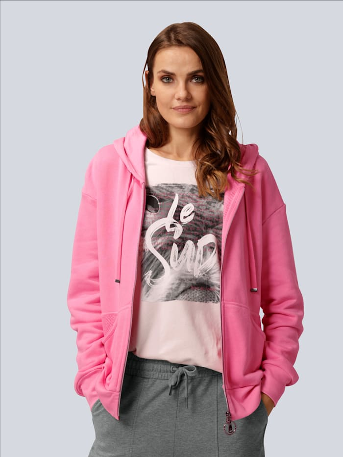 MARGITTES Sweatjacke mit Kapuze, Pink