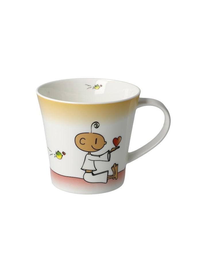 """Goebel Goebel Coffee-/Tea Mug Der kleine Yogi - """"Du bist mein Lieblingsmensch"""", Bunt"""