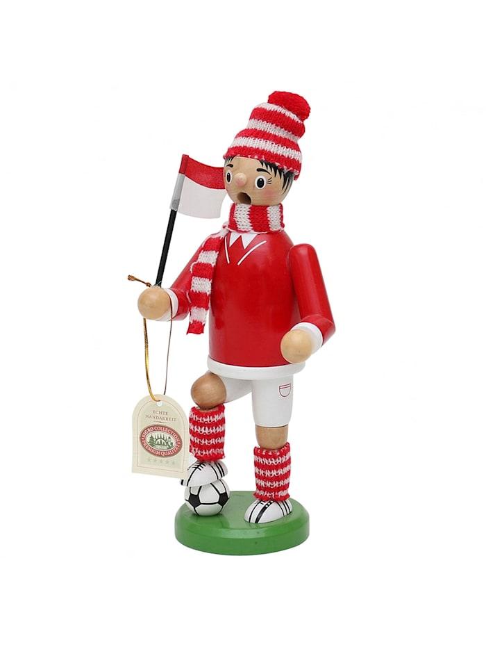 Sigro Holz Räuchermann Fußballer, Rot, Weiß