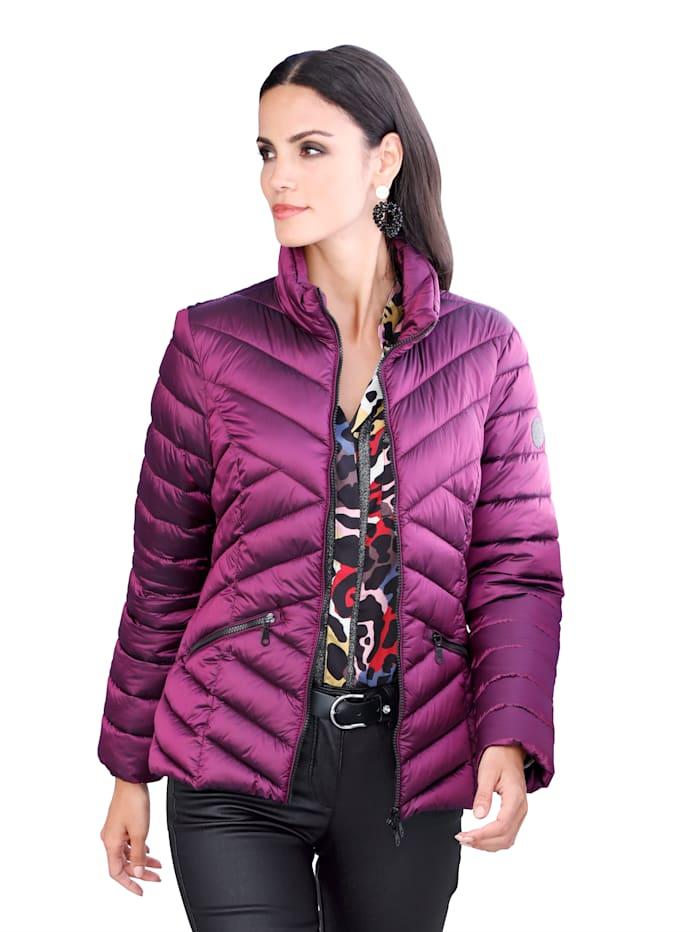 Alba Moda Gewatteerde jas met warme wattering, Fuchsia