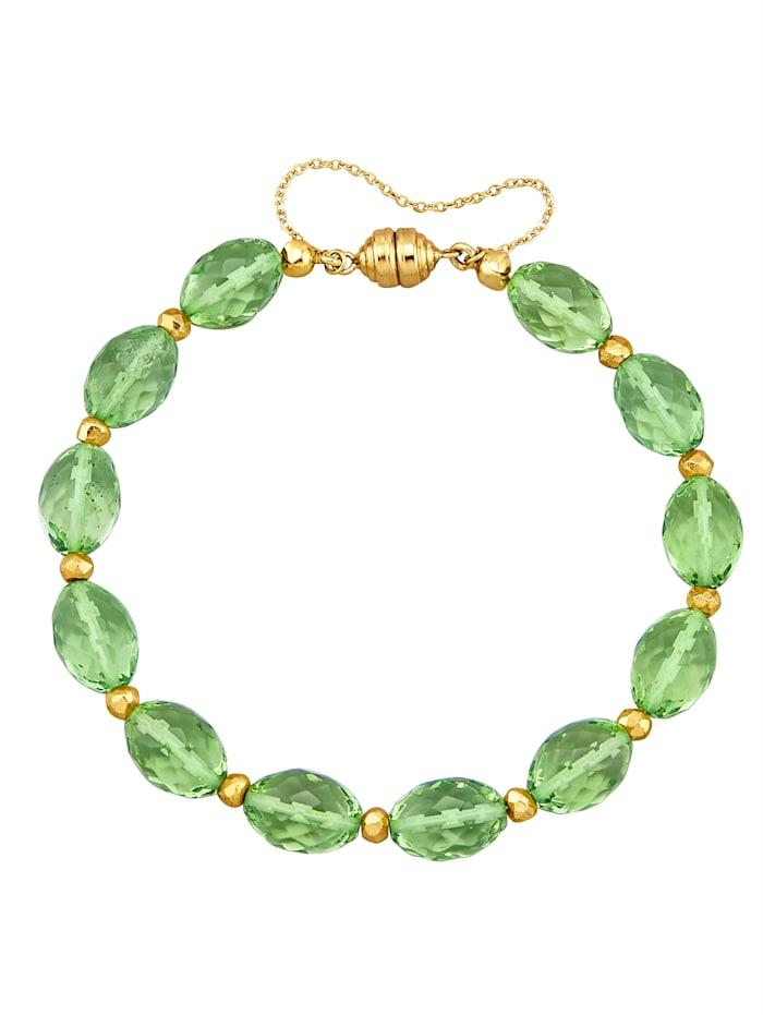 Sogni d'Oro Bernstein-Armband grün, Grün