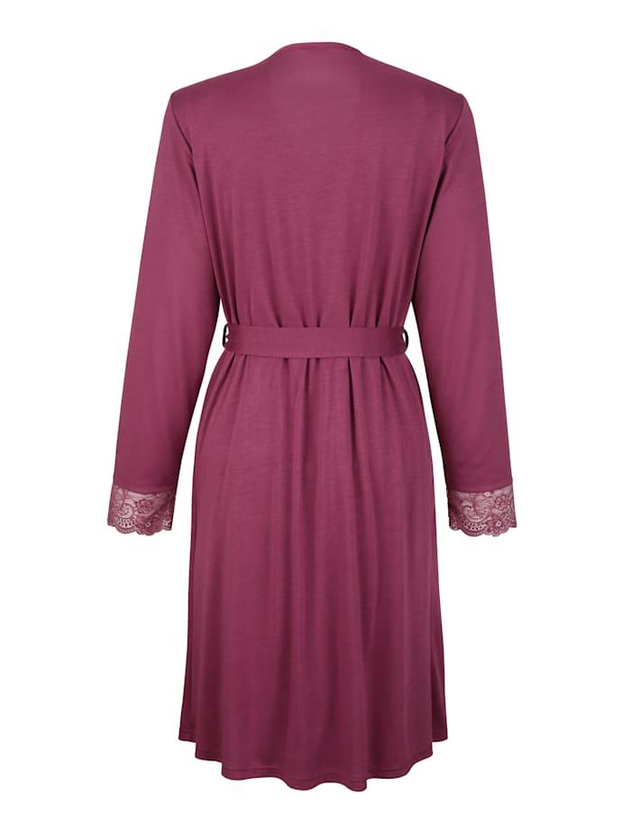 Ensemble robe de chambre + nuisette à dentelle
