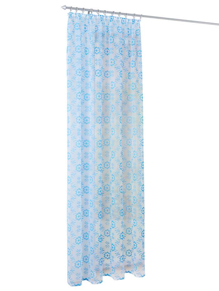 Webschatz Gardin -Blue-, blå