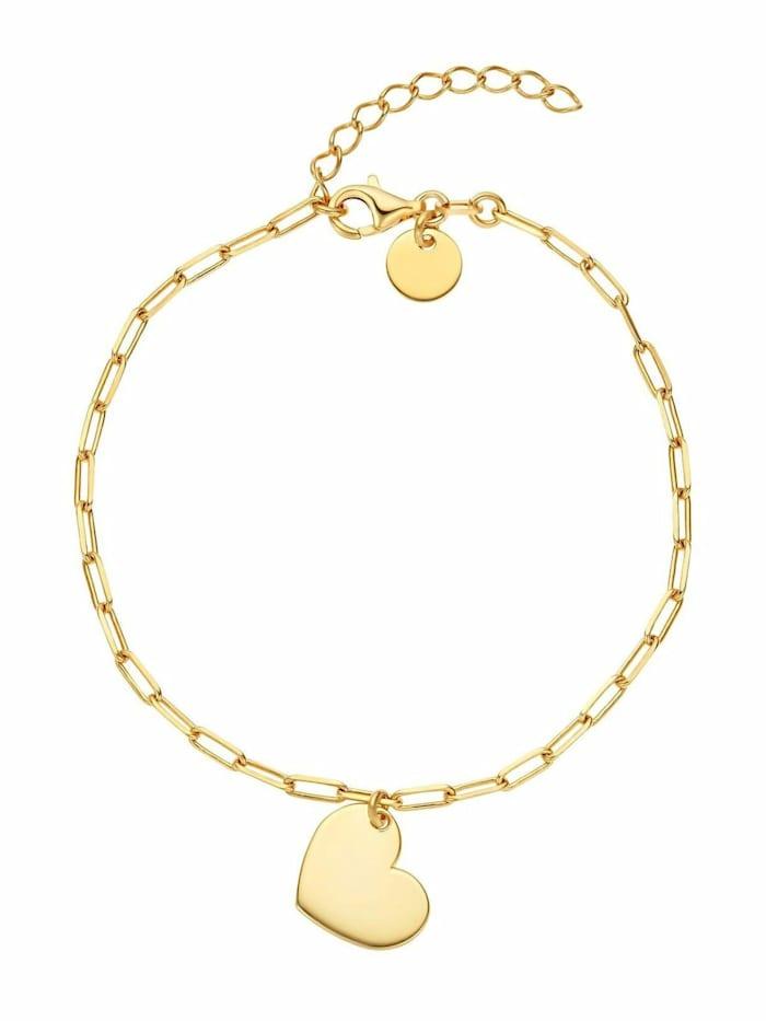 Noelani Armband für Damen, Sterling Silber 925, Herz, Gold