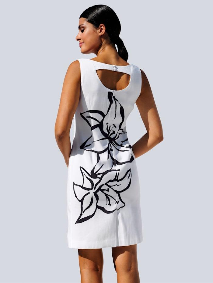 Strandkleid mit Blumensilhouette