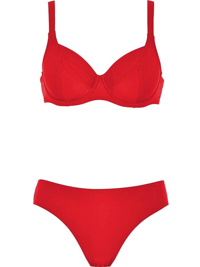 Naturana Bügel Bikini, rot