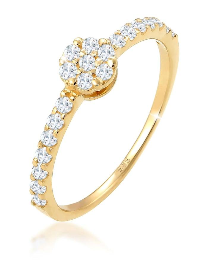 Elli Premium Ring Verlobungsring Topas Edelstein Fein 585 Gelbgold, Gold