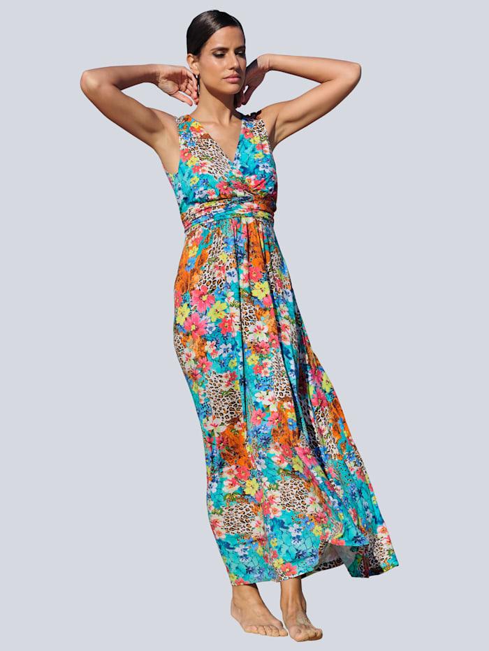Alba Moda Strandkleid mit schwingendem Rockteil, Türkis