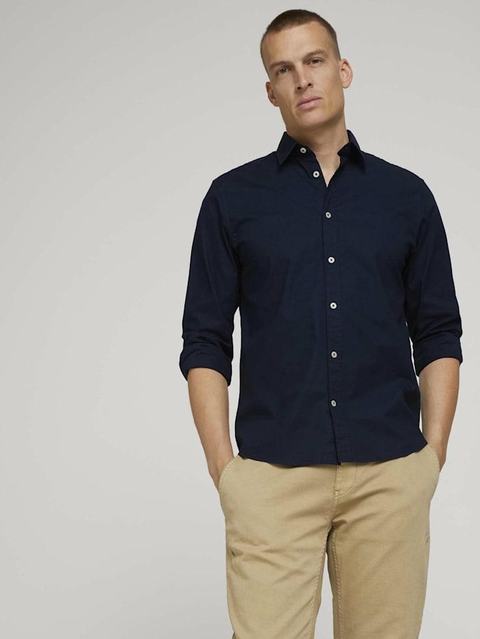 Tom Tailor Basic Popelin Hemd, Sky Captain Blue