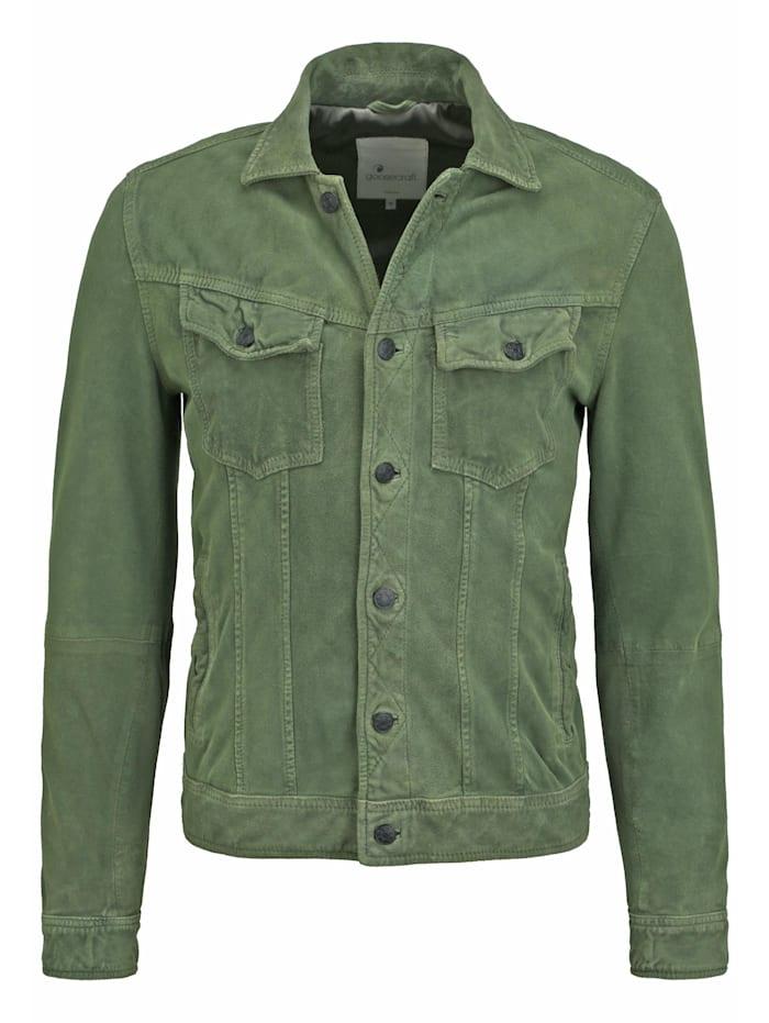 Goosecraft Lederjacke GC Mojave desert suede jacket keine/nicht relevant, leaf green