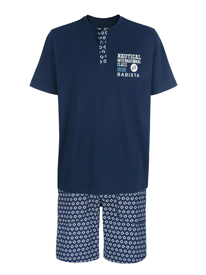 BABISTA Pyjashort, Marine/Bleu ciel