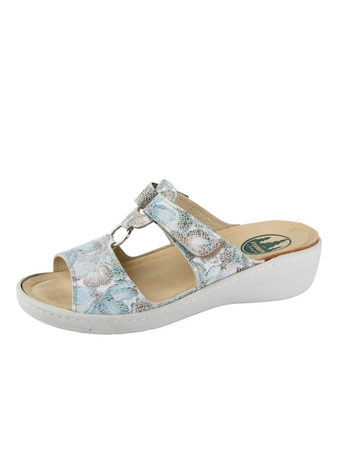 Franken Schuhe Mules, Turquoise